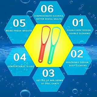 ablegrow (TM) Kunststoff Zunge Schaber entfernen Bakterien Anti Mundgeruch Oral von verbessern Oral Hygiene Dental Werkzeug 2optional Farbe