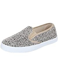 Slipper Damen Schuhe Low-Top Pailetten Deko Ital-Design Halbschuhe