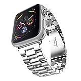 Evershop 42mm Apple Watch Armband für Apple Watch 4 3 2 1, iWatch Armband Edelstahl Uhrenarmband...