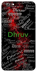 Dhruv (Pole Star, Unperturbed) Name & Sign Printed All over customize & Personalized!! Protective back cover for your Smart Phone : Samsung Galaxy E5