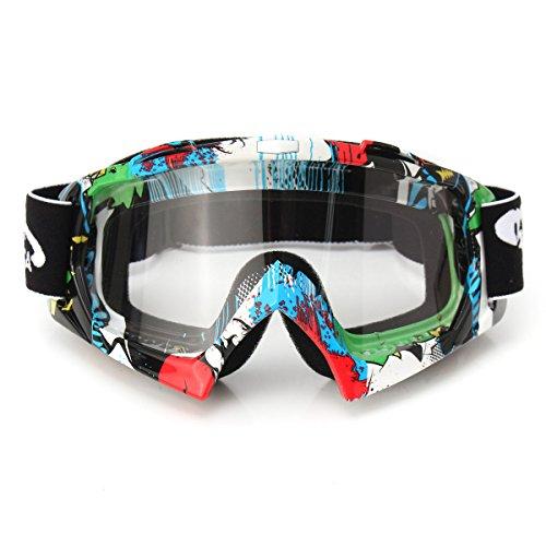 AUDEW Viso Occhiali da sole di protezione maschera Occhialoni moto per attività esterna Motocicletta / Cross / ATV / Sci / Motociclo / Bicicletta Google Anti-UV Antinebbia QL037 len trasparente