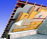 Dämmwolle Dachdämmung Dachausbau Dämmpaket für ca. 120 m² Dachausbau - Klemmfilz WLG 032 in 120 mm, frachtfrei