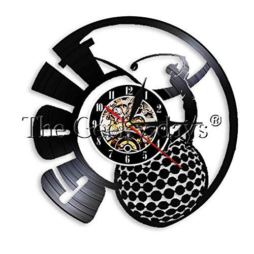 HHYXIN Disco De Pared De Vinilo. Juegue Golf Disco De Vinilo Reloj De Pared Decoración para El Hogar Deporte Al Aire Libre Reloj Reloj De Pared Arte Regalo para Jugadores De Golf