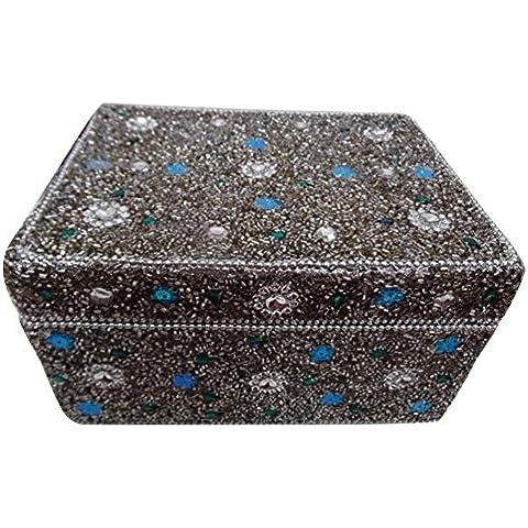 lac artigianale di stoccaggio perline gioielli in argento articoli da regalo di nozze box Accessory Case delle donne di monili