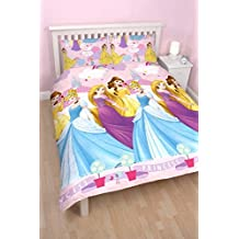 "Character World doble ""de princesas Disney enchanting"" juego de cama reversible, Multi-color"