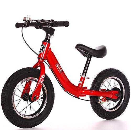 SYRL Kinder Balance Fahrrad für Jungen und Mädchen ab 2-6 Jahre Anti-Shock,Red -