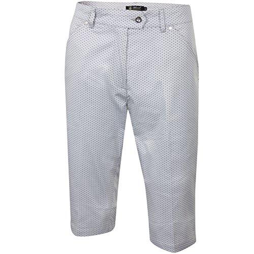 Island Green Damen IGLSHO1868 Ladies Bermuda Spotted Short, Silver Grey/Black, 18 - Silver Womens Shorts