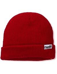 Neff - Berretto con risvolto da uomo, rosso  (rosso), taglia unica