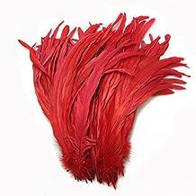 kolight Juego de 50pcs 14~ 16inch Natural gallo carcasa para plumas de cola para bricolaje hogar boda fiesta oficina decoración