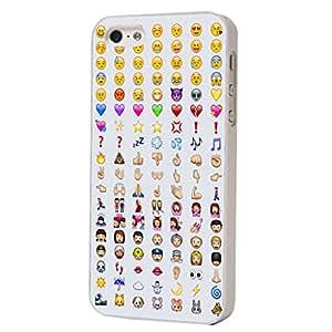 iphone 5 5S Cool Smiley Faces emoji Funky Design Fashion Trend Cover Coque arriere Coque Case-Plastique et métal