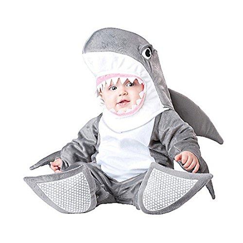 Kenmont Kleinkind Baby Säugling Spielanzug Tier Kostüm Overalls Foto-Prop Outfits Weihnachten Halloween Outwear Bodys (Hai, 100)
