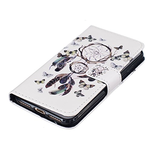 iPhone 8 Plus 5.5 Zoll Hülle Leder für iPhone 7 Plus,iPhone 8 Plus Hülle Rosa,iPhone 7 Plus Wallet Handytasche Blumen Hülle,iPhone 8 Plus Flip Cover Leder Etui Lederhülle Case,iPhone 7 Plus Hülle für  Deer Flower 8