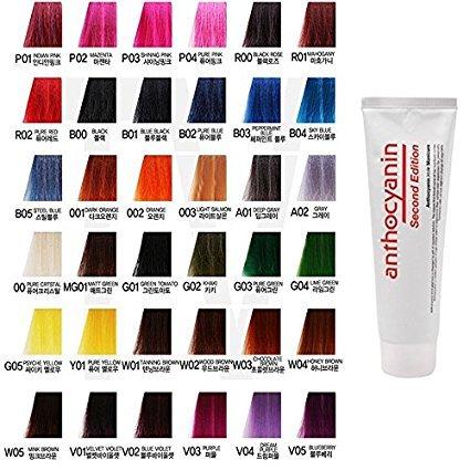 Anthocyane Cheveux Manucure Couleur 230g (A01 Deep Gray) – Semi Permanent Cheveux Couleur