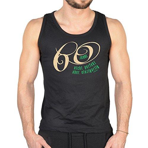 zum 60. Geburtstag cooles Männer TankTop 60 Jahre nicht perfekt aber einzigartig Geschenk zum 60. Geburtstag 60 Jahre Geburtstag Schwarz