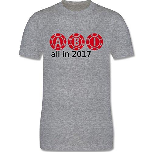 Abi & Abschluss - ABI - All in 2017 - Herren Premium T-Shirt Grau Meliert
