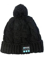 HZY Bluetooth Chapeau le Ecouteur de Bleutooth la Chapeau de la Musique à la Mode Appel Intelligence Musique le Chapeau du Tricot Loisir en Plein Air pour Garder Chaud et Entendre de la Musique et Appeler au Téléphone,Cadeau de Noël Comme le Père de Noël (noir beau)