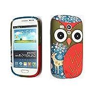 Gr8value Clear Case Thin Transparent Soft Gel S TPU Silicone Case Cover Samsung Galaxy S3 Mini i8190 (Owl deer gel)