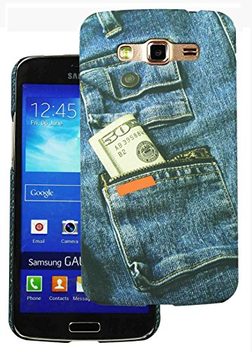 Heartly Jeans Style Printed Design High Quality Hard Bumper Back Case Cover For Samsung Galaxy Grand 2 G7102 G7106 - Cash Pocket  available at amazon for Rs.199