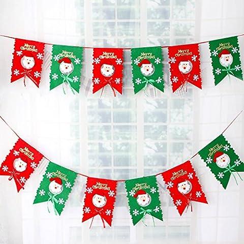 Yifom Natale decorativo flag flag flag flag Festival 6, lunghezza linea 2,8 m - Vacanze Di Natale Banner Flag
