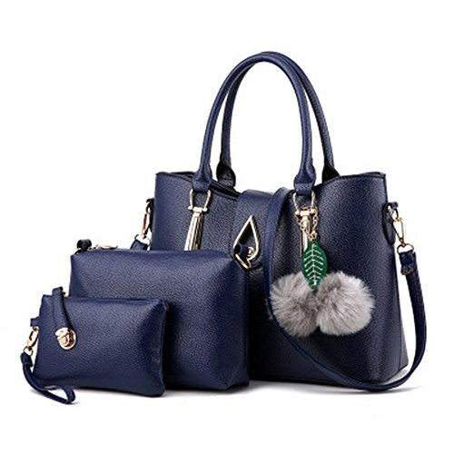 sotica-womens-3-pcs-satchel-tote-handbag-crossbody-bag-shoulder-bag-purse-set-dark-blue