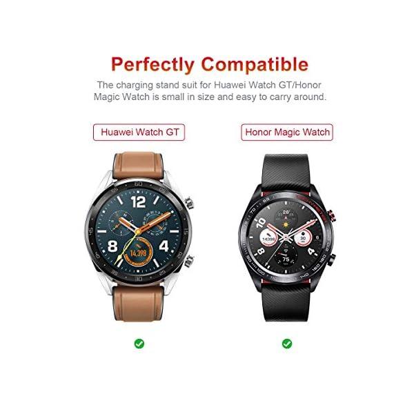 AIEVE Cable de Cargador para Huawei Watch GT, Base de Acoplamiento del Cable del Cargador de Repuesto con Protector de… 5