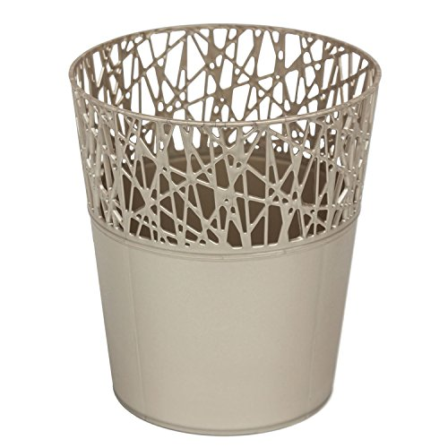 Rond cache-pot 18 cm CITY en plastique romantique style en platine
