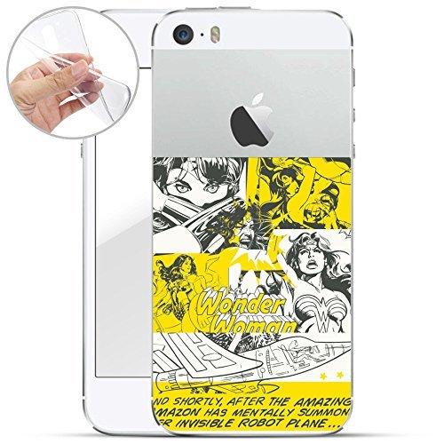finoo | iPhone 6 / 6S Weiche flexible lizensierte Silikon-Handy-Hülle | Transparente TPU Cover Schale mit Wonder Woman Motiv | Tasche Case mit Ultra Slim Rundum-schutz | Every Mom Comic Amazing