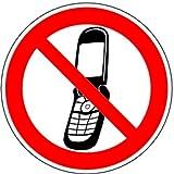 Aufkleber Foto-Handy benutzen verboten 300mm