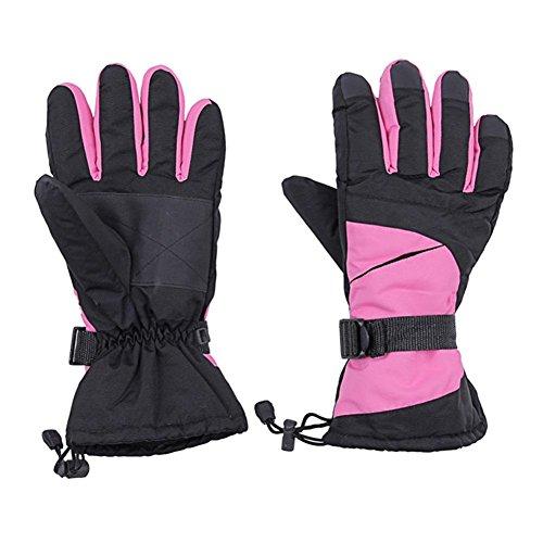 Herren Winter warme Handschuhe Radfahren Bergsteiger Wind und wasserdichte Ski-Handschuhe , red