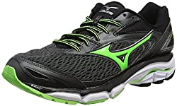 Mizuno Men Wave Inspire 13 Running Shoes, Black (Dark Shadowgreen Geckoblack), 11 Uk 46 Eu