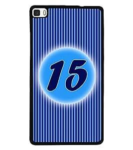 Fuson 2D Printed Numerology Designer back case cover for Huawei P8 - D4233