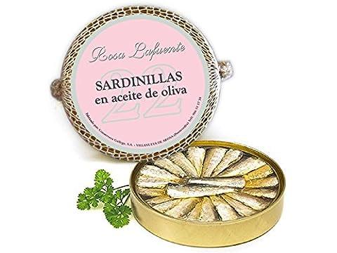 """Petit Sardines à l'Huile d'Olive """"Rosa Lafuente"""" (22 unités) - De Les Rias Galiciennes - Produit de la Mer 100% Naturel et"""