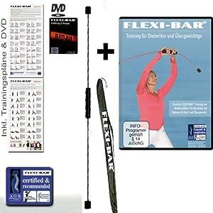 Flexibar + Flexi-Bar Tasche + 2 Flexi Bar DVDs + Übungsposter Schwungstab Swingstick