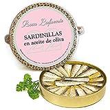 """Petit Sardines à l'Huile d'Olive """"Rosa Lafuente"""" (22 unités) - De Les Rias Galiciennes - Produit de la Mer 100% Naturel et Artisanal"""