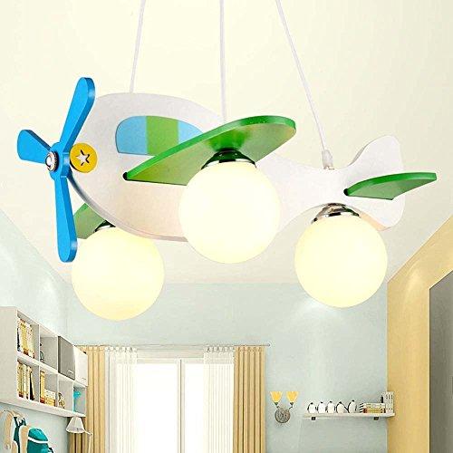 HOMEE Kronleuchter-moderne minimalistische kreative Auge führte Kinder 'Cartoon Flugzeug Form aus Holz Kronleuchter Schlafzimmer Studie Kronleuchter - Innenbeleuchtung Kronleuchter (Baum-form-kaffee-tische)