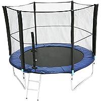 Preisvergleich für Mojawo® XXL Trampolin Komplettset Gartentrampolin 2,5 Meter (8FT) inkl. Plane, Leiter und Sicherheitsnetz