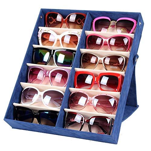 Zhongsufei Sonnenbrille Aufbewahrungsbox Sonnenbrillen Vitrine Sunglass Eyewear Display Storage Case Tray (Farbe : Rot) -