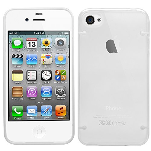 SAMRICK-Studs Dots Glossy Hybrid armatura cover per Apple iPhone 4/4S, colore: bianco