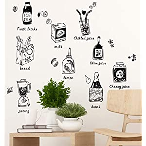 Amazon Brand – Solimo Wall Sticker for Dining Room (Cooking with Love, Ideal Size on Wall – 75 cm x 101 cm)