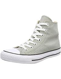 Converse Ctas Hi Dark Stucco/White/Black, Sneaker a Collo Alto Unisex – Adulto