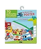 Je Decore Mon Poster avec les Gommettes - Les Transports - Dès 3 ans