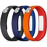 Sony Pack de 3 Bracelets pour SmartBand SWR110 Taille S Noir/Rouge/Marine