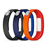 Sony Mobile SmartBand Wrist Straps Armbänder Small A1 in 3er Pack - Rot/Blau/Schwarz