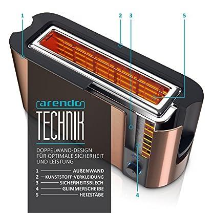 Arendo-Automatik-Toaster-Langschlitz-Defrost-Funktion-Wrmeisolierendes-Doppelwandgehuse-integrierter-Brtchenaufsatz-herausziehbare-Krmelschublade-GS-zertifiziert