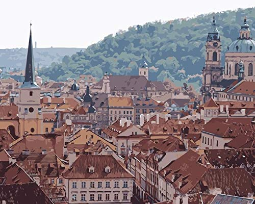 Pintura Por Numeros Diy Techo República Checa Panorama