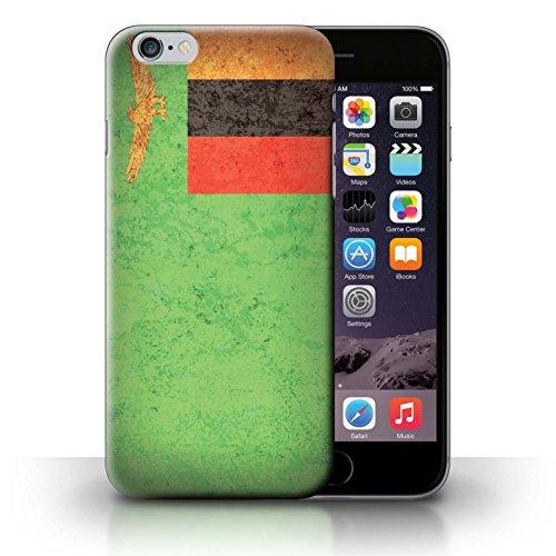 Coque de Stuff4 / Coque pour Apple iPhone 6S / Tunisie/Tunisien Design / Drapeau Africain Collection Zambie/Zambien