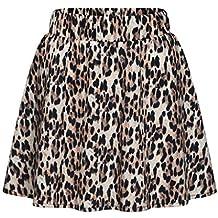 Faldas Cortas Mujer Leopardo Impreso Falda Cintura Alta Falda Midi 6d6d4e18650d