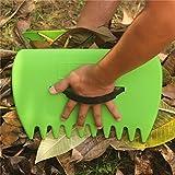Life987 Garten und Hof Leaf Schaufeln/Hand Rechen für Laub, Rasen und Trash Pick-up