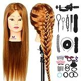 Neverland Beauty 26' 30% Veri Capelli Umani Parrucchieri Formazione Testa Salon Hairdressing Pratica Strumento + DIY Hair braid set