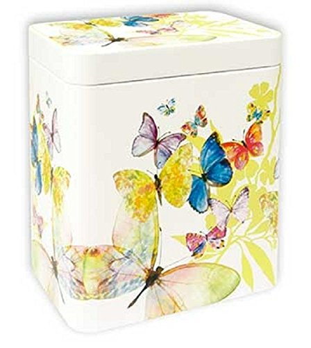 TM Dose Schmetterlinge 250 g Teedose Kaffeedose 11,6 x 8,1 x 11,6 cm